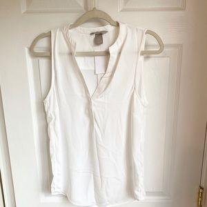 NWT HM sleeveless white blouse- size 4